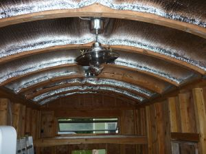 Reflectix insulation in roof
