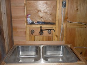 Rough kitchen sink